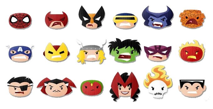 hulk spiderman deadpool emoji