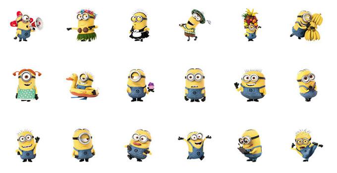 emoji minions despicable me 3 free