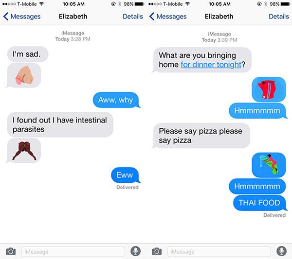 naughty emoji texting