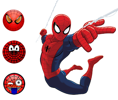 spiderman emoji ios android keyboard
