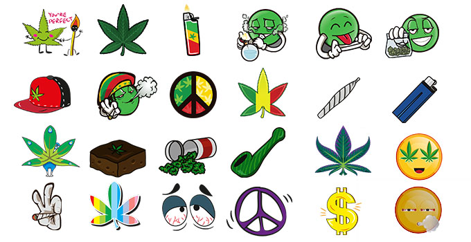 weed marijuana leaf smoking emoji