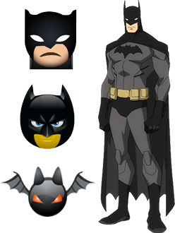 batman emoji ios android