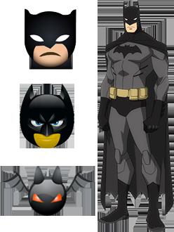 batman emoji ios android