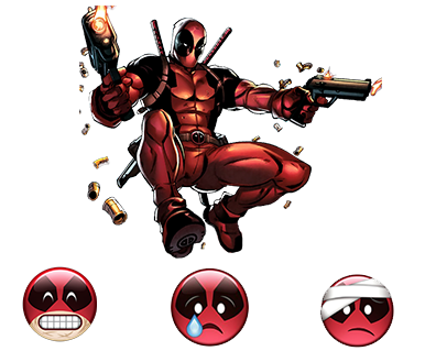 deadpool superhero emoji cool