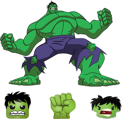 hulk emoji iphone ios android