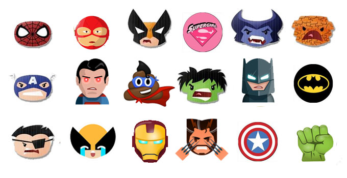 superhero emoji keyboard spiderman