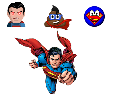 superman emoji ios android