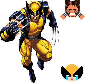 wolverine emoji marvel keyboard